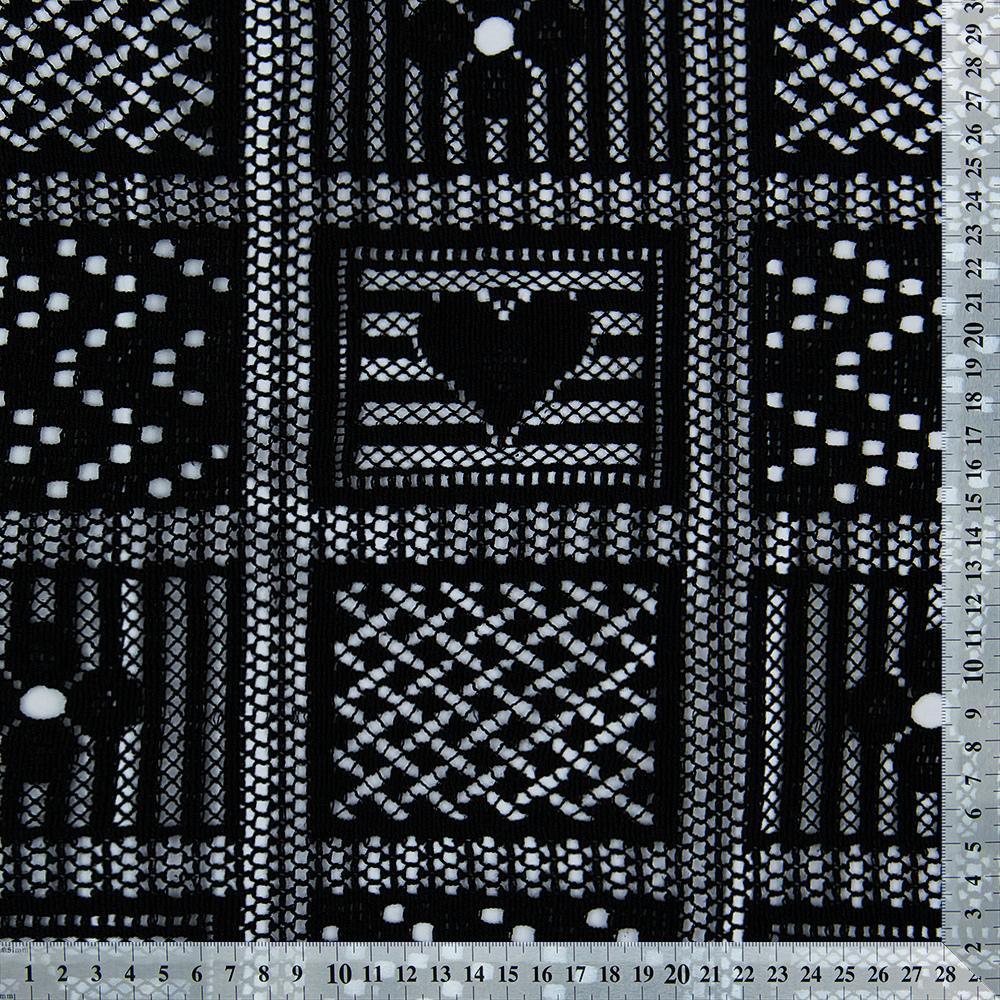 997f2b8b7f3 Плотное черное кружево из хлопка