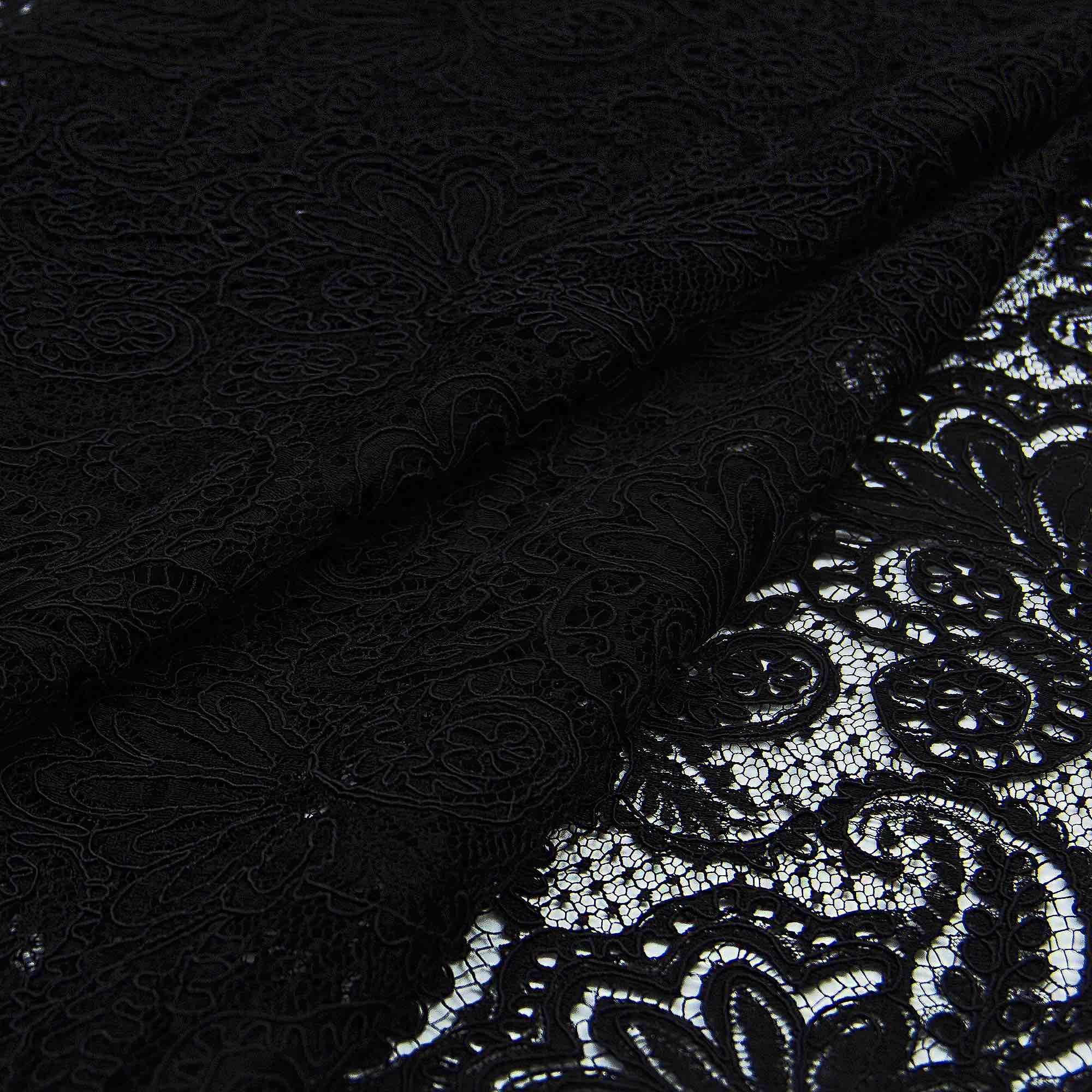 d93d1d57e10 Плотное черное кружево